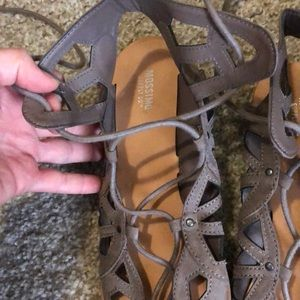 Mossimo Supply Co. Shoes - Tan Sandals with up-the-ankle laces